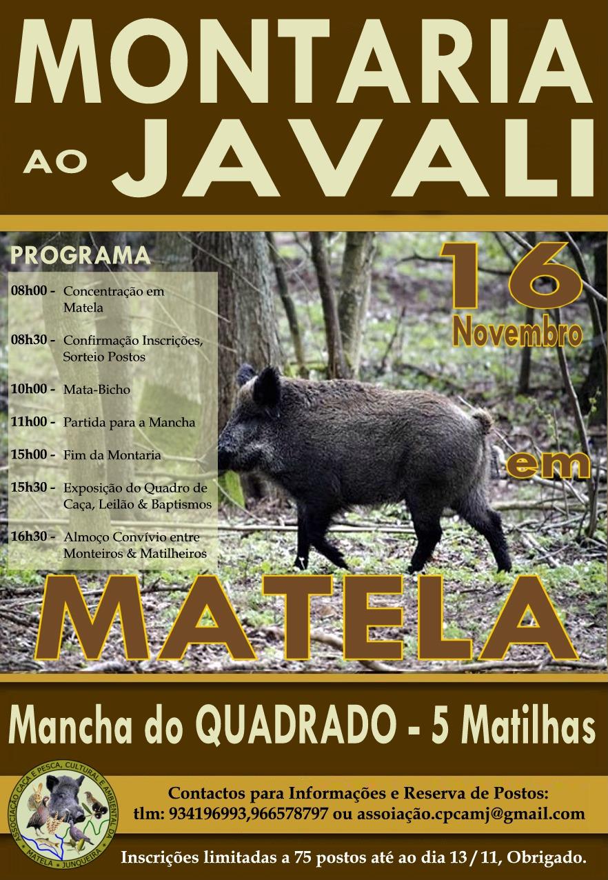 Cartaz Montaria Matela-Nov16