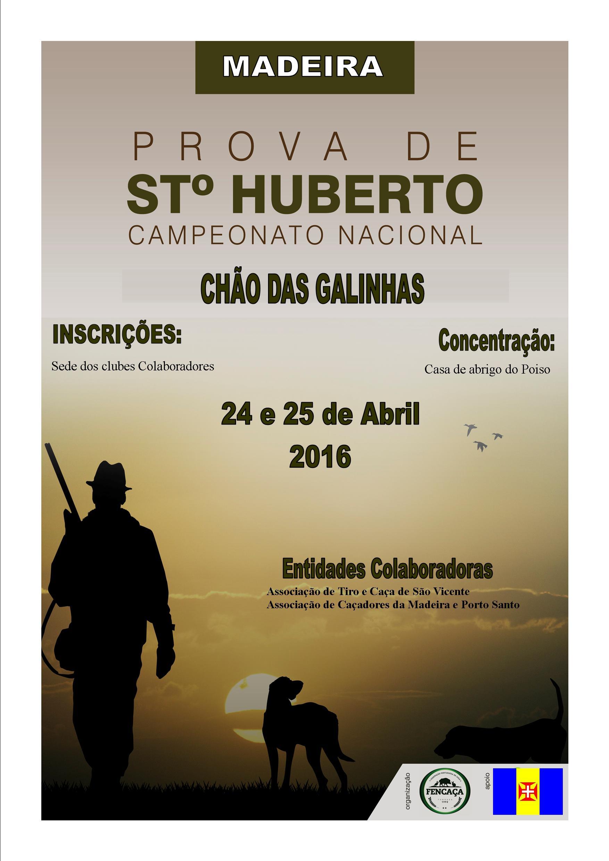 CARTAZ S. HUBERTO  madeira 2016