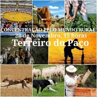 Concentração pelo Mundo Rural, Terreiro do Paço (Lisboa) – 22-11-2019